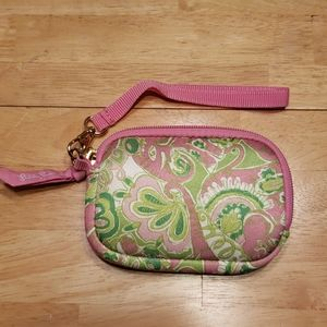 Lilly Pulitzer wristlet wallet.